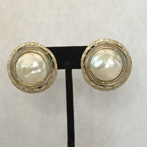Vintage Gold and Silver Tone Clip On Earrings